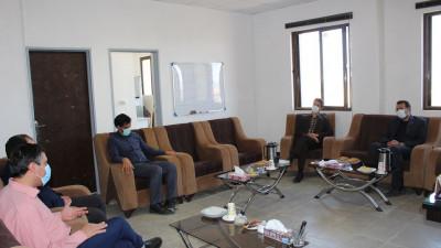 دیدار مدیر امور آب شهرستان قائنات و زیر کوه با ریاست دانشگاه
