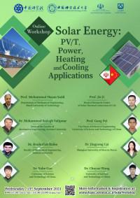 "كارگاه علمي با عنوان ""Solar Energy: PV/T, Power, Heating, and Cooling Applications"""